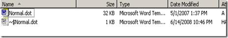 normal dot file