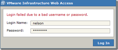 VMware infrastructure web access