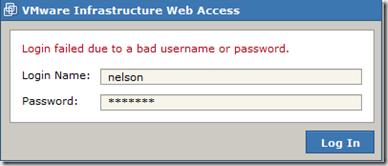 VMware Server Web Access Default Username and Password