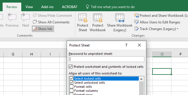 lock cells in excel 2007 from editing