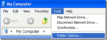 tools folder options