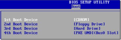 change boot order