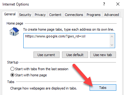 Force IE to Open Link in New Tab