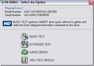 western digital diagnostic tools