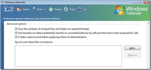 does windows defender scan usb drives