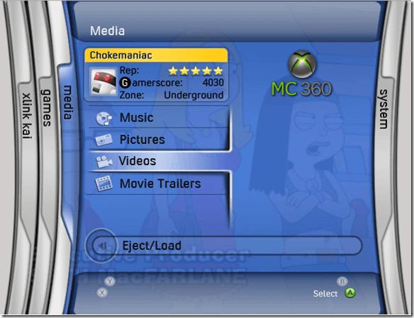 xbox interface