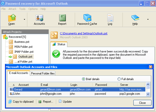 10 Tools to Recover a Lost or Forgotten Outlook PST Password