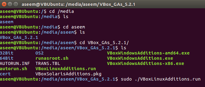 sudo apt get install virtualbox guest additions iso