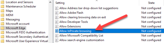 Disable or Turn Off InPrivate Browsing in Internet Explorer and