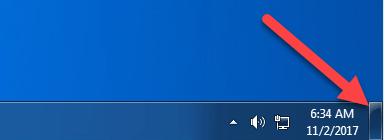 Restore Show Desktop icon in Windows Vista, 7, 8 and 10