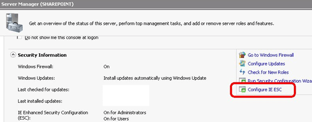 How to Turn Off IE Enhanced Security Configuration
