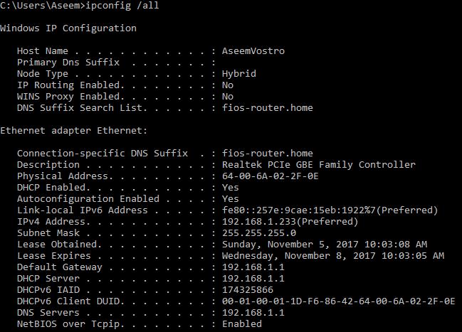 command prompt reset ip