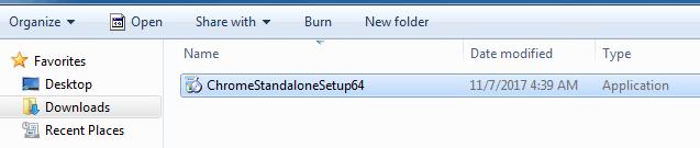 Download Google Chrome Redistributable Package (Standalone Installer)