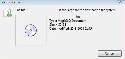 "Fix ""File is too large for destination file system"" Error"