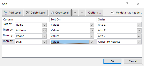 how to lock a row in excel so it doesnt sort