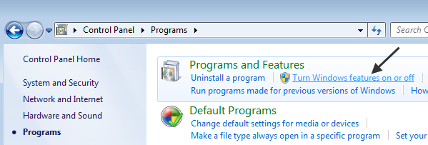 Windows Features On or Off Dialog is Empty in Windows 7 or Vista