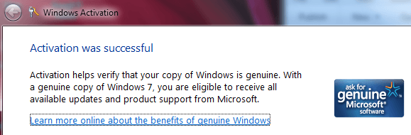 microsoft window genuine validation