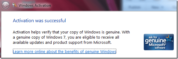 check windows 7 genuine