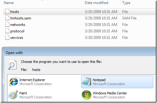 Windows 7 – Edit the Hosts File