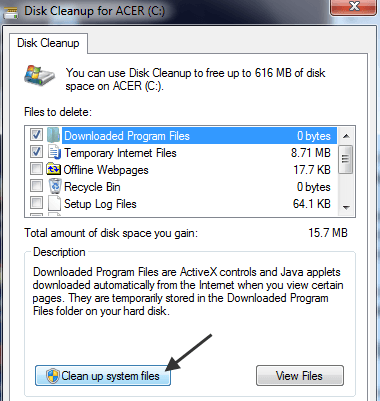 how to delete windows 7 files