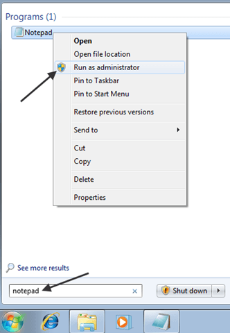 Windows 7 – Edit the Hosts File