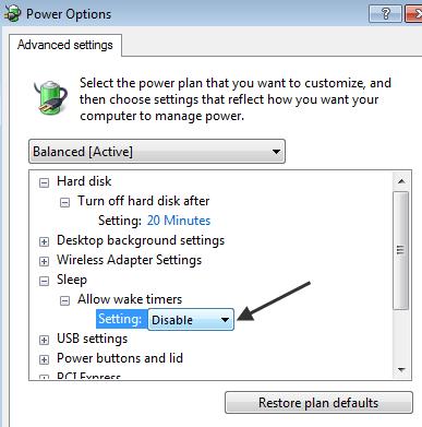how to change computer sleep settings