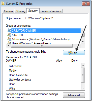 windows 7 permissions