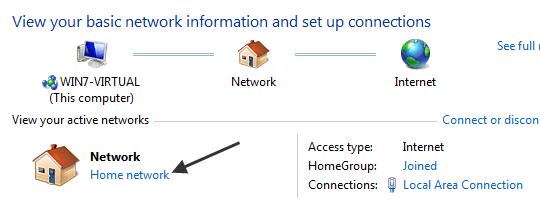 homegroup windows 7