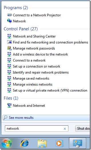 how to change unidentified network to home network windows 7