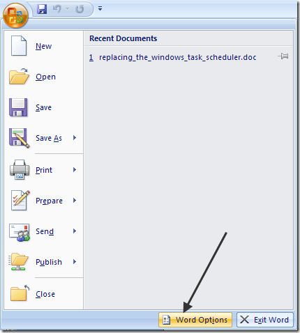 outlook 2007 spell checker