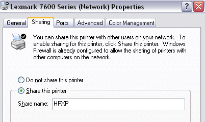 Share a Printer from XP to Windows 7/8/10