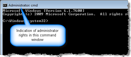 runas administrator command line windows 10