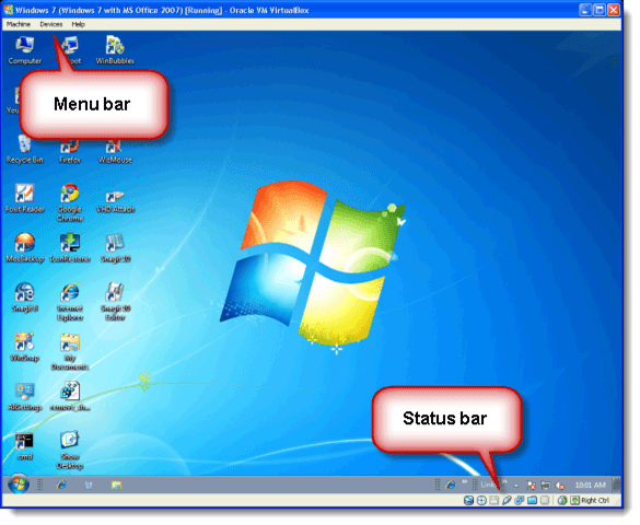Hide the Menu Bar and Status Bar in VirtualBox