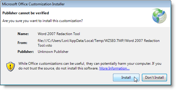 Microsoft Office Customization Installer