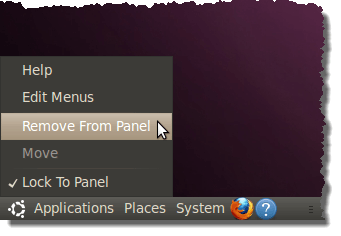 Removing the menu bar from the bottom panel