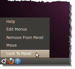 Locking the Main Menu to the panel