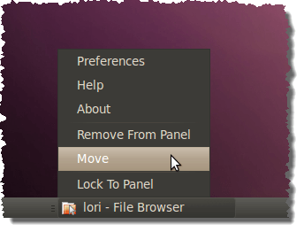 Moving Window List buttons to the left