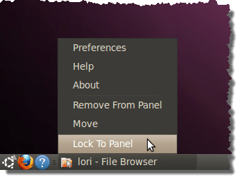 Locking the Window List buttons to the panel