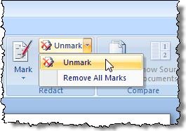 Unmark option