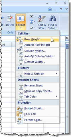 Use the Keyboard to Change Row Height and Column Width in Excel