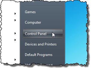 Opening the Control Panel