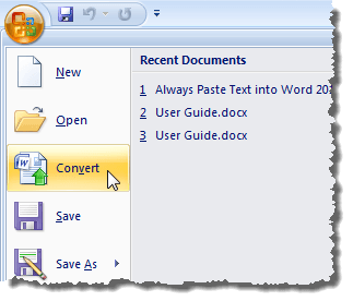 Convert Older Office Documents to Office 2010, 2013 or 2016
