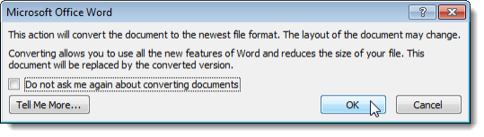 convert older office documents to office 2010  2013 or 2016 format