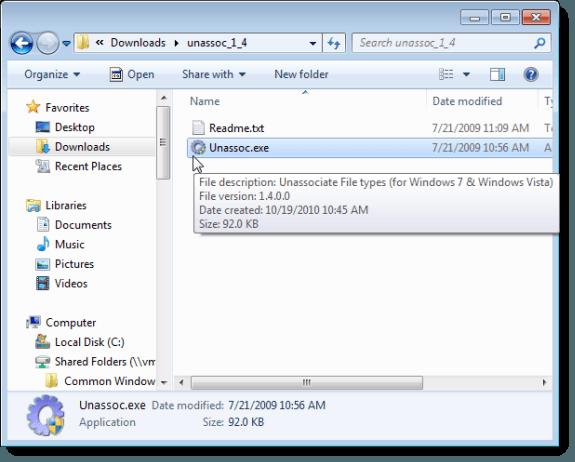 Opening Unassociate File Types