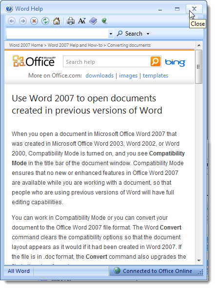 convert a word document to pdf in office 2010