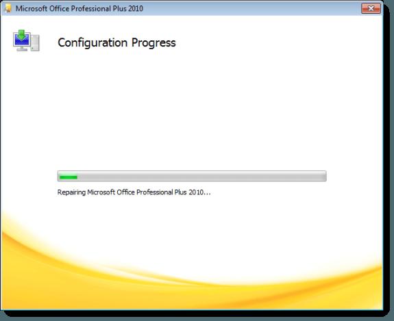 Repair progress