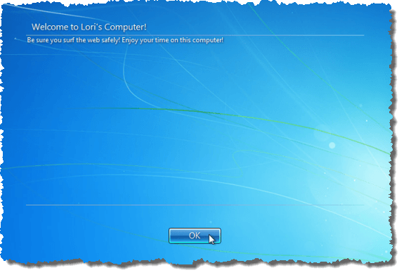Add a Message to the Logon Screen for Users in Windows 7/8/10