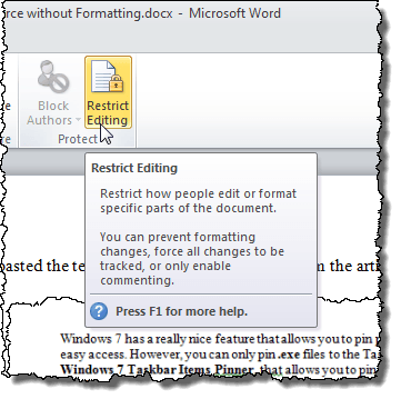 How to Restrict Editing on Word Documents