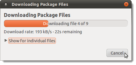 Downloading Package Files dialog box