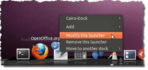 Modifying a launcher